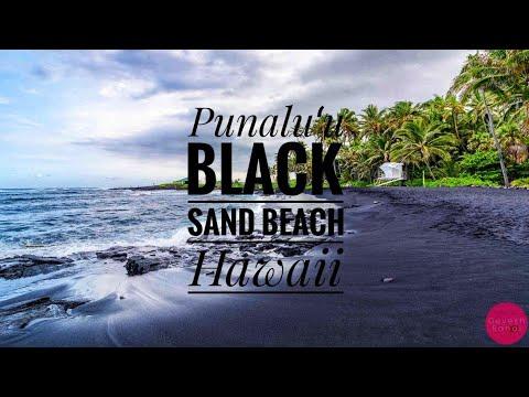Punaluu Black Sand Beach, Big Island, Hawaii (4K Aerial Drone & GoPro Footage)