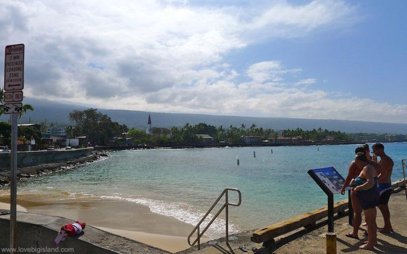 Kaiakeakua beach in Kailua Kona on the Big Island of Hawaii