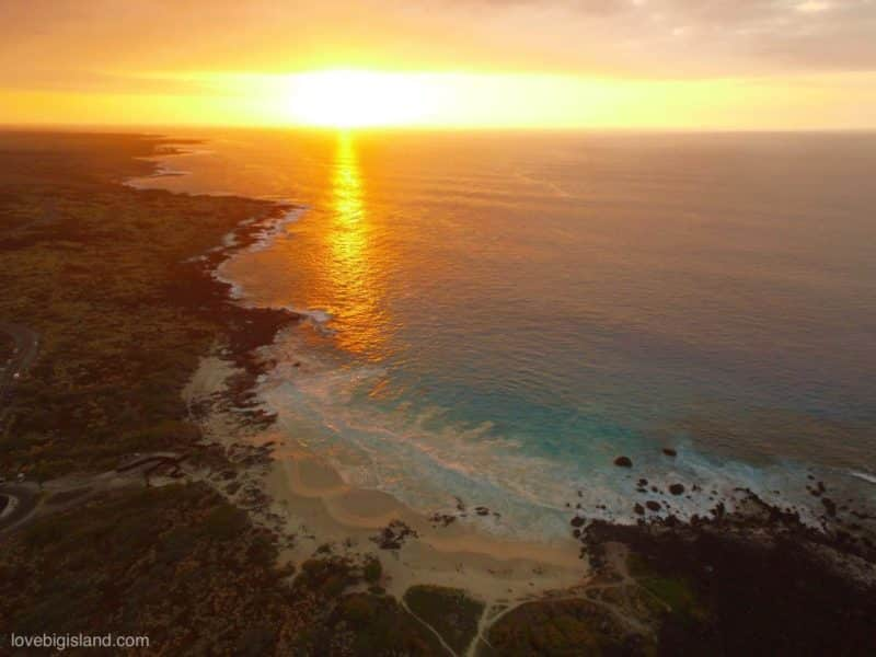 kua bay, Manini'owali Beach, sunset, hawaii, big island