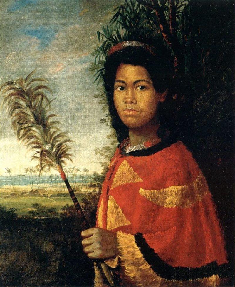 kahili royal staff, painting