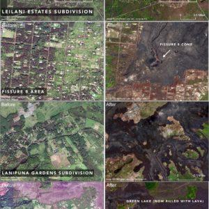 Leilani estates, 2018 LERZ eruption, kilauea, big island, hawaii, lava