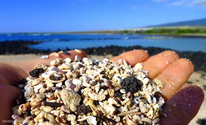 A close up of the sand at Ai'opio beach