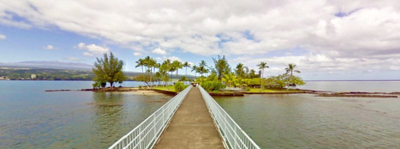 coconut island, bridge, hilo