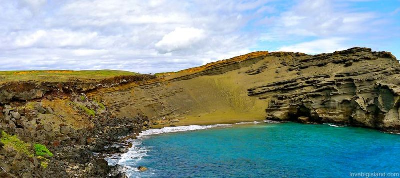 green sand beach