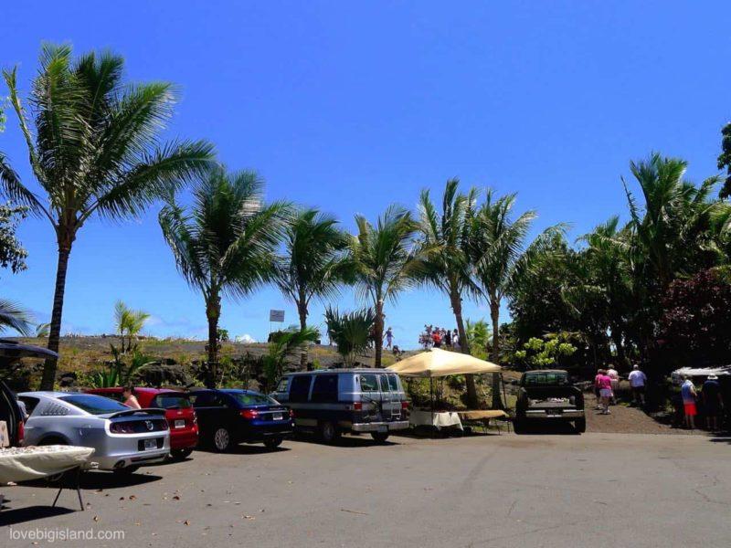 parking, kaimu kalapana beach park
