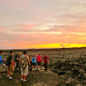 lava hike, big island