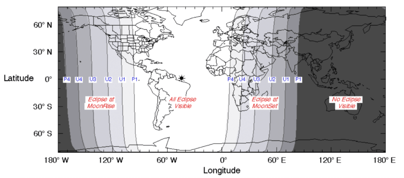 Part of the NASA lunar eclipse map September 28 2015. See the original version here