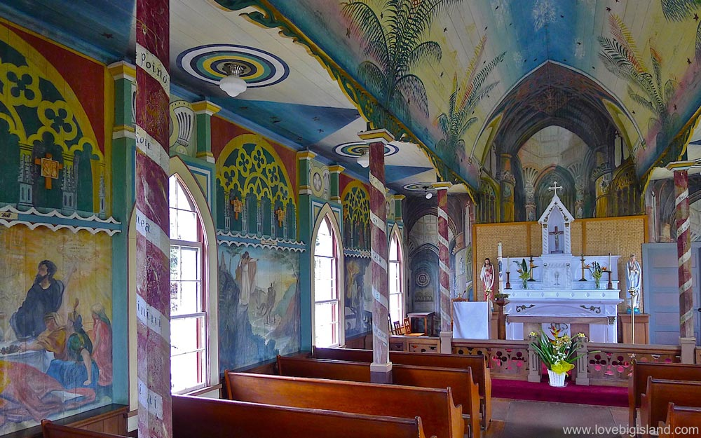 Painted Church in south Kona