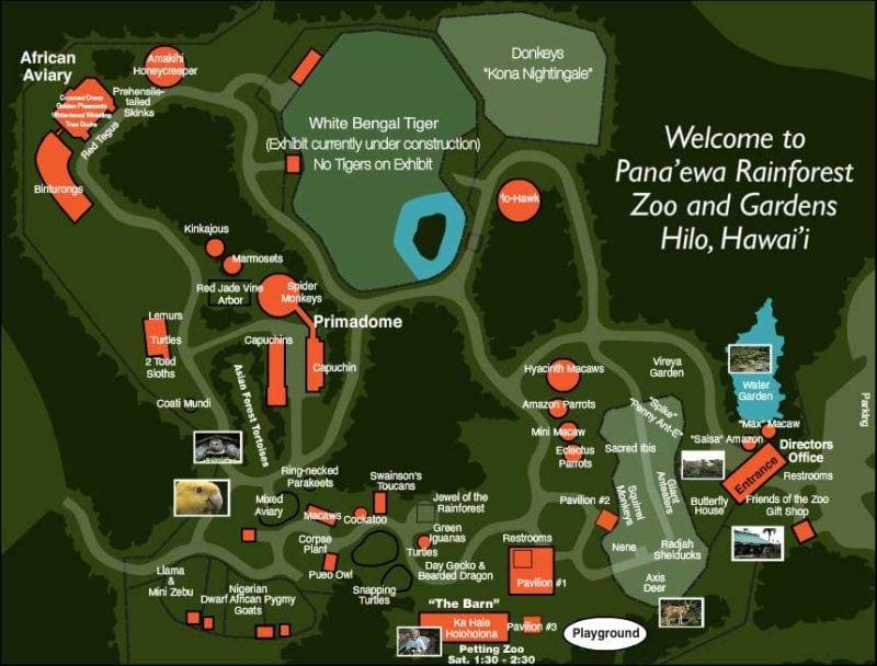 Panaewa zoo map floor plan