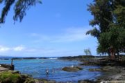 Richardsons beach park on the Big Island