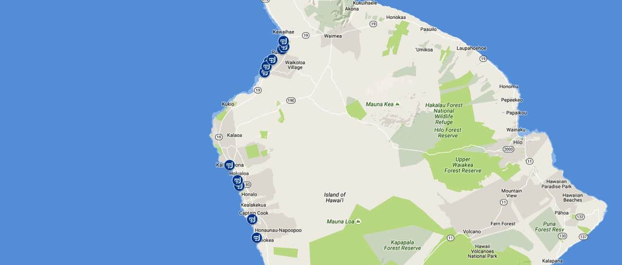 Snorkeling spots and beaches in Kona