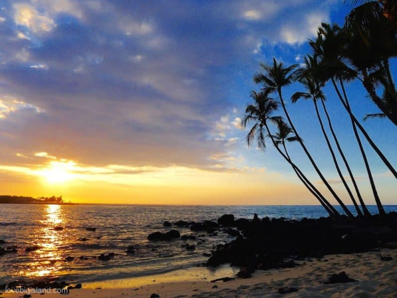 sunset at Maha'iula beach