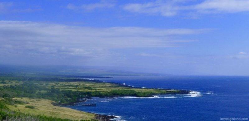 whittington beach park, big island, overview, hawaii
